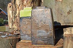 Dekorácie - Váza vysoká bronzová a bronzovo zelená -SET - 11502918_