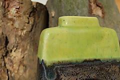 Dekorácie - Váza vysoká bronzová a bronzovo zelená -SET - 11502922_