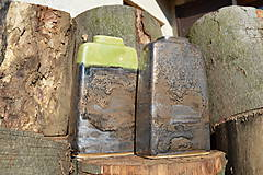 Dekorácie - Váza vysoká bronzová a bronzovo zelená -SET - 11502939_