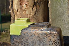 Dekorácie - Váza vysoká bronzová a bronzovo zelená -SET - 11502945_