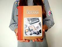 Ručne šitý diár * zápisník * sketchbook A5 zľava z 40 eur