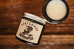 Svietidlá a sviečky - Sviečka zo sójového vosku v hnedom skle - Gentleman - 11503437_