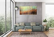 Obrazy - V Aljašských lesoch- XL abstraktný obraz - 11503088_