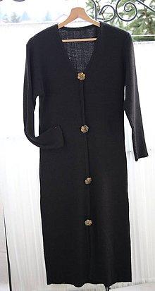 Šaty - Šaty. Čierne pletené vlnené a nadčasové. - 11502930_