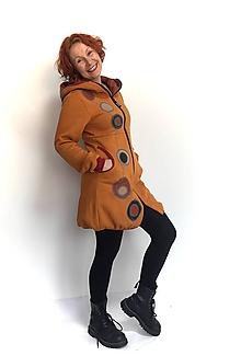 Mikiny - Kabátek s kapucí, balónový efekt, výrazná aplikace - 11503862_