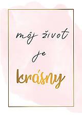 """Grafika - Plagát """"Môj život je krásny"""" - 11503671_"""