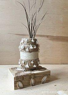 """Dekorácie - Bohoo"""" recyklovaná ostrovná váza - 11503823_"""