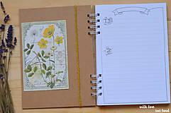 Papiernictvo - Receptárik - herbárium (žltý, ranunclus) - 11505387_