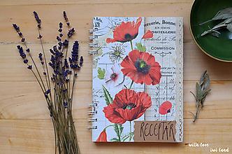 Papiernictvo - Receptárik - herbárium (mak, papaver) - 11505398_