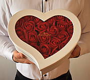 Dekorácie - Srdce Just for you - veľkosť M - 11504315_