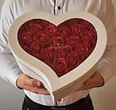 Dekorácie - Srdce Just for you - veľkosť L - 11504321_