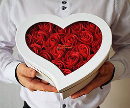 Dekorácie - Srdce Just for you - veľkosť S - 11504225_