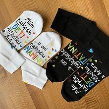 """Obuv - Výnimočná sada maľovaných ponožiek pre """"najlepších rodičov, ktorí majú najlepšie deti"""" - 11505311_"""