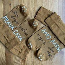 """Obuv - Maľované ponožky pre novomanželov s nápisom """"Som tvoj PRAVÝ/ a občas ĽAVÝ"""" - 11505354_"""