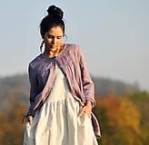 Košele - Košile lněná - Lila - 11502323_