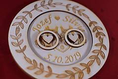 Prstene - Drevený podnos vankúšik na obrúčky gravirovaný 9 - 11502535_