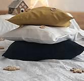 Úžitkový textil - Ľanová obliečka na vankúš - 11503435_