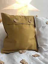 Úžitkový textil - Ľanová obliečka na vankúš - 11503436_