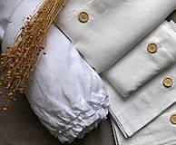 Úžitkový textil - Ľanová obliečka na vankúš - 11503441_