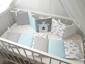 Textil - Mantinel (Macko Kráľ) - 240x30cm Baby modra - 11507102_