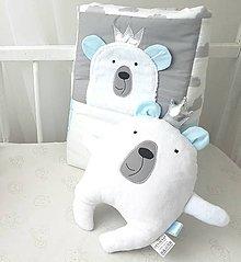 Hračky - Macko Kráľ Baby modra-biely z kolekcie Macko Kral - 11507205_