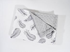 Textil - Deka sivé Pierka - 11505646_