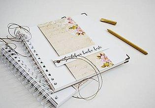 Papiernictvo - Svadobná kniha hostí - vintage ruže 20x20 - 11508095_
