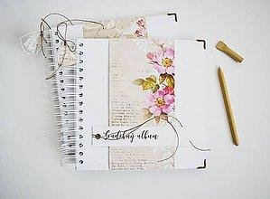 Papiernictvo - Svadobný album - vintage ruže 20x20 - 11508136_