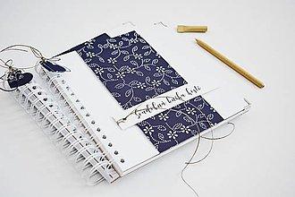 Papiernictvo - Svadobná kniha hostí - modrotlač 20x20 - 11508164_