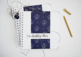 Papiernictvo - Svadobný album - modrotlač 20x20 - 11508176_