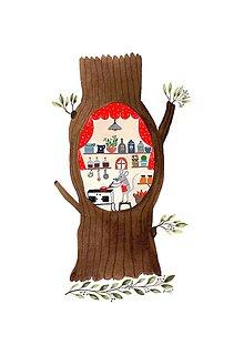 Obrazy - Stromodom myška / reprodukcia maľby - 11505840_