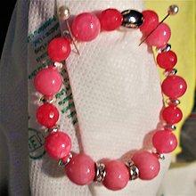Náramky - Ružový chalcedon - 11506107_