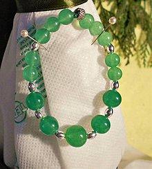 Náramky - Zelený chalcedon - 11506482_