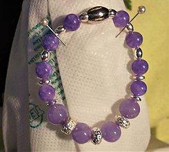 Náramky - Angelit violet - 11506643_