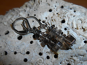 Náušnice - brown cristall-záhneda-naušnice-chir.o. - 11508745_