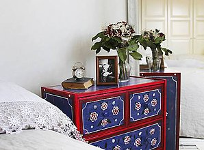 """Nábytok - Ručne maľovaná komoda """"Na chatu""""  (komoda """"Na chatu""""1) - 11508760_"""