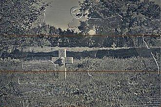 Dekorácie - foto na dreve_Hope_Nádej (Šedá) - 11505774_