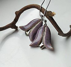 Náušnice - keramické náušnice - Zvonček lúčny - 11507321_