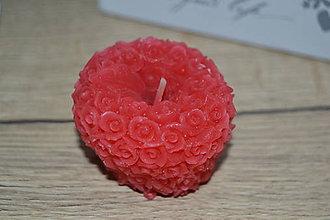 Svietidlá a sviečky - Červené ružičkové jabĺčko - 11506105_