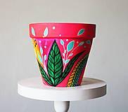 Nádoby - Dúhová poviedka - Terakotový kvetináč (veľký) - 11508429_