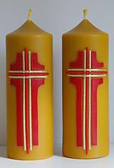Svietidlá a sviečky - Oltárna sviečka z včelieho vosku 2. - 11507247_