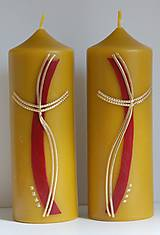 Svietidlá a sviečky - Oltárna sviečka z včelieho vosku 3. - 11507250_