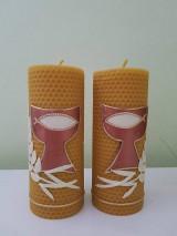Svietidlá a sviečky - Oltárna sviečka z včelieho vosku 4. - 11507251_