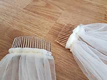 Ozdoby do vlasov - Závoj na rozlúčku so slobodou - 11507003_