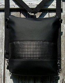 "Batohy - ""backpack 2in1 black relief"" - Batoh & taška cez rameno - 11507643_"