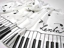 Šály - Hodvábny šál - klavír - 11508296_