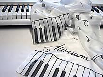 Šály - Hodvábny šál - klavír - 11508297_