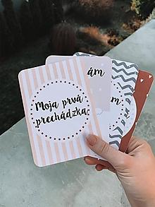 Detské doplnky - Mílnikové kartičky béžové - 11511513_