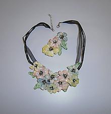 Náhrdelníky - lel,náhrdelník pearls flowers 179 - 11509264_