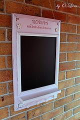 Tabuľky - Kriedová tabuľa s vešiakmi - RODINA v ružovom - 11509266_